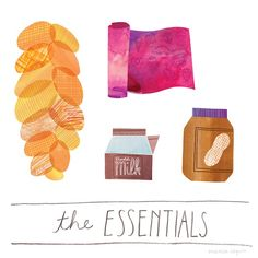 Delightful Illustrations Of People's 'Essential' Grocery Store Buys - Marisa Seguin- DesignTAXI.com