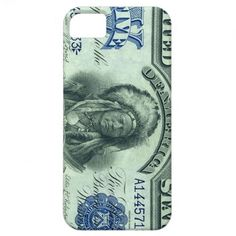 Vintage Indian Chief $5 Bill iPhone 5 Case #iphone #money