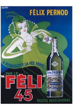 Pastis Felix Pernod - Vintage image bank - beverages - Digital Image file