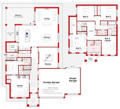 Discover our entire range of Dual Occupancy House Plans designed for the Perth metro area . From Single storey studio's to custom granny flats attached to the main home. We offer Double Storey and house behind house special purpose duplex style designs. 3 Storey House, 2 Storey House Design, Duplex Design, Home Design Plans, Plan Design, Design Ideas, Duplex Floor Plans, Free House Plans, Beautiful House Plans