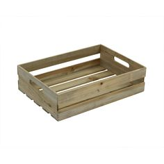 Crates and Pallet 18 in. x 12.5 in. x 4.625 in. Half Crate in Weathered Gray-69004 - The Home Depot