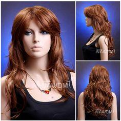 Female Glamorous Brown Wig Mannequin Head Hair #WG-ZL86-30H130 #FullWig