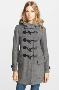 Burberry Finsdale Wool Duffle Coat #Nordstrom