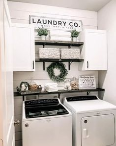 DIY Laundry Room Sign | CraftCuts + My Blessed Home Collaboration | Shop Wood Letters: CraftCuts.com Laundry Room Remodel, Laundry Decor, Laundry Room Signs, Small Laundry Rooms, Laundry Room Organization, Farmhouse Laundry Rooms, Farmhouse Small, Modern Farmhouse, Laundry Room Decorations
