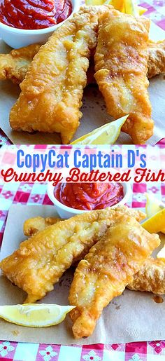 Crispy battered flaky white fish that is moist inside, I don't know if it can get much better than this!