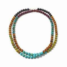 "Jay King Multicolored Turquoise 40"" Necklace"