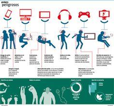 #Infografía #Gadgets peligrosos para la #salud