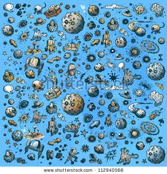 Seamless Cartoon Pattern Stock Vector 112940566 : Shutterstock