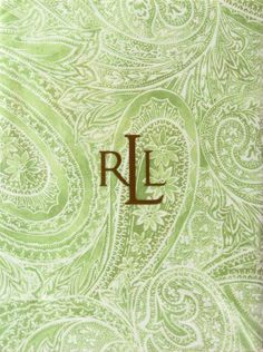 Ralph Lauren Veranda Paisley Tablecloth in Sage