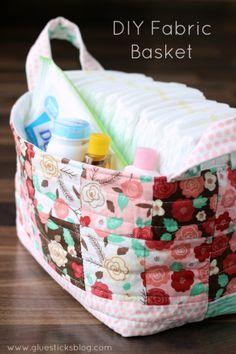 DIY fabric basket