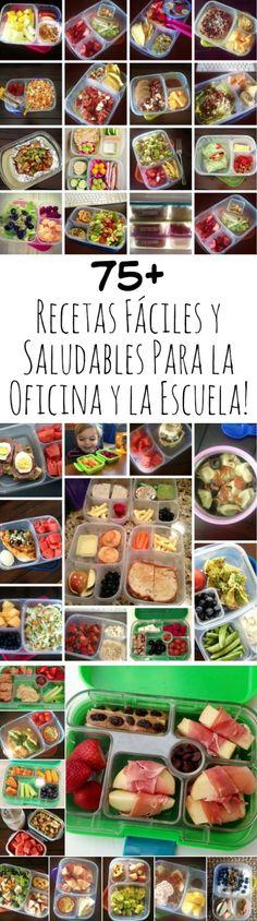 Las mejores ideas unos almuerzos sanos en la oficina y en la escuela! Fáciles y rápidos!