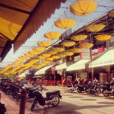 Pub Street - Cambodia, Siem Reap Loving the umbrellas too