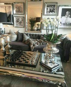31 ideas home decoration luxury decor Diy Home Decor Rustic, Elegant Home Decor, Elegant Homes, Living Room Decor Elegant, Romantic Living Room, Glam Living Room, Home And Living, Modern Living, Luxury Living Rooms