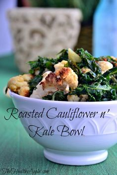 How I've Overcome Pain, Failure and Discomfort with My Health & {Roasted Cauliflower n' Kale Bowl} #glutenfree
