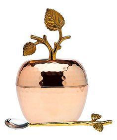 Copper Leaf Honey Dish #zulily #zulilyfinds