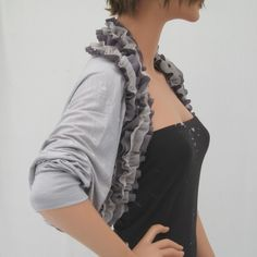 Light Grey Shrug Sweater Cardigan RSOLTGY by MIRIMIRIFASHION, $39.00