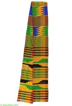 Kente Scarf Handwoven Textile Ghana Africa
