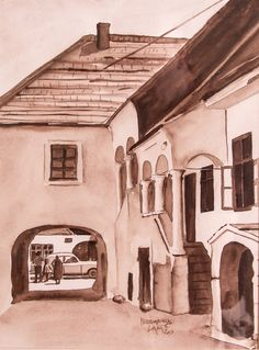House 5 Mainstreet Mörbisch Watercolor on paper Watercolor, Paper, House, Painting, Art, Watercolor Painting, Home, Painting Art, Haus