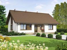 DOM.PL™ - Projekt domu ARN Mokka 2 - DOM RS1-78 - gotowy projekt domu Model House Plan, House Plans, Bungalows, Gazebo, Pergola, Small Villa, Bungalow House Design, Design Case, Home Fashion