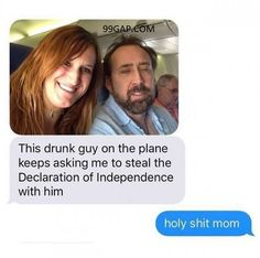 Hilarious Text Of The Day ft. Nicolas Cage