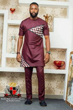 Checkout some of the finest Nigerian Mens Traditional Fashion Styles including senator wears, agbada styles for guys, Igbo native attires. African Shirts For Men, African Dresses Men, African Attire For Men, African Clothing For Men, African Wear, African Style, African Women, Nigerian Men Fashion, African Print Fashion
