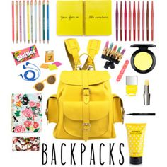 backpacks: back to school edition  yellow backpack by Grafea www.grafea.com