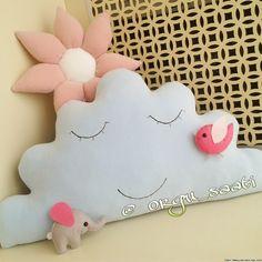 Bulut Yastık ve Kapı Süsleri ,  #bulutyastık #kapısüsleri , Bebek odasi süslemeleri ve yastik cesitleri  ...