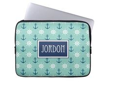 Personalized Laptop Sleeve Monogram Laptop by LoveyDoveyCreations