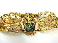 Aztec Jewelry, Jewelry Bracelets, Vintage Costume Jewelry, Vintage Costumes, Artist And Craftsman, Mexican Jewelry, Mexican Artists, Orisha, Ancient Art