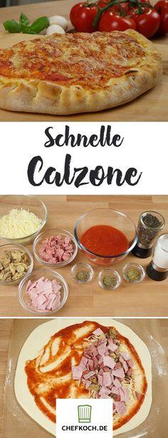 Diese Calzone gelingt ohne Gehzeit und somit extra schnell. Mit Video von KochKinoDE.