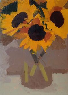 Jeremy Durling, 'Sunflowers', 10 x 7, Oil on Panel
