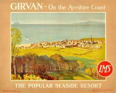 Girvan Ayrshire Coast Scotland LMS, 1920s - original vintage poster by James Fullarton Sloane listed on AntikBar.co.uk