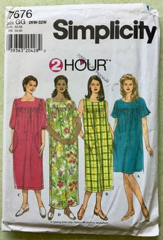 c1144a6a95fc PLUS SIZE MUU MUU #Sewing Pattern Dress 4 Sizes Easy #Simplicity 7676  #plussize