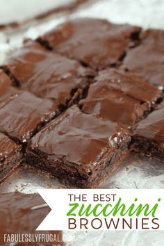 I've been tweaking my recipe until I found just the right Zucchini Brownies Reci. - I've been tweaking my recipe until I found just the right Zucchini Brownies Recipe! This is a mus - Healthy Desserts, Just Desserts, Delicious Desserts, Dessert Recipes, Yummy Food, Dinner Recipes, Low Calorie Desserts, Appetizer Recipes, Chocolate Zucchini Brownies