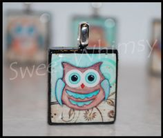 Give a Hoot Scrabble Pendant by SweetWhimsyFL on Etsy, $7.95