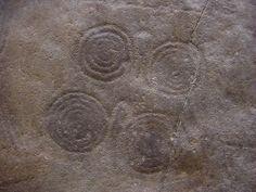Rock from Borno, Valcamonica, Borno, Nigeria (2800-2400 B.C.) Spiral petroglyphs by the Camunni people.