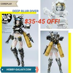 Coreplay Deep Blur Diver 1/6 Scale Action Figure (Two Versions). $35-$45 Off!  Pre-Order at Hobby-Galaxy.com!  #coreplay #diver #doll #animegirls #animegirl #actionfigures #actionfigure #onesix #onesixthfigure #onesixscale #onesixthrepublic