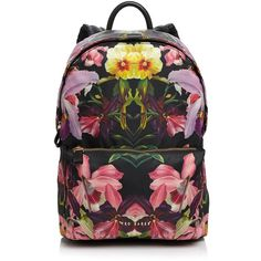 afd7602a76 Ted Baker Danney Lost Gardens Nylon Backpack ( 179) ❤ liked on Polyvore  featuring bags