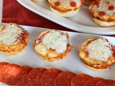 Cheesy Pizza Treats - 4-ingredients - biscuits, spaghetti sauce, pepperoni,