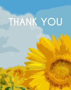 Say #ThankYou with this beautiful sunflower themed card! CatPrint Design #566