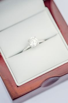 This solitaire engagement ring is definitely a yes. #WeddingJewelry #UniqueEngagementRings