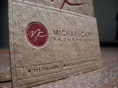 Kraft Letterpress Business Card - Michael Carr | Flickr - Photo Sharing!