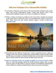Avail great deals on Bali tour packages with Flamingo travels