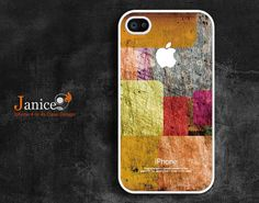 iphone 4 white case iphone case iphone 4s case iphone 4 cover abstract colors  texture  unique Iphone case. $13.99, via Etsy.