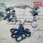 Sininen mustekalakaulakoru #mustekala #uniikki #merihevonen