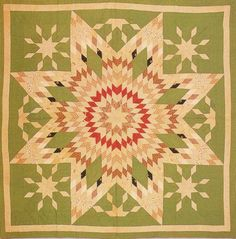 Lone Star Variation, c1880. Made by Eliza Miranda Allen Green. Ohio. I am mesmerized by this quilt. Can't stop looking at it!