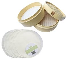 Zoie   Chloe 100% Cotton Reusable Liners for Bamboo Steamers - 6 Pack ** Find out more about the great product at the image link.