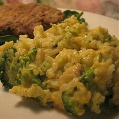 Broccoli Rice Casserole...yum! My family won't eat celery or onion, so I leave it out. Awesome side dish, or add cooked chicken for an awesome main dish!!!