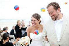 Perfect for that beach wedding: the mini-beach ball toss! All I can say for this one is yay! Because, really, who doesn't love a mini-beach ball? They're so cute! :)