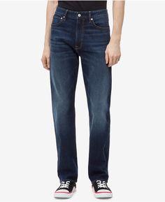 Mens Big Size Jeans Heavy Construction Casual Dark Blue Stone Wash Denim Trouser